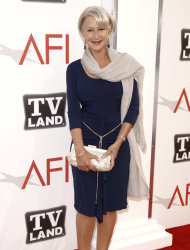 "Actress Helen Mirren arrives at the taping of ""TV Land Presents: AFI Life Achievement Award Honoring Morgan Freeman"" in Culver City, Calif., Thursday, June 9, 2011. The special will air June 19th on TV Land. (AP Photo/Matt Sayles)"