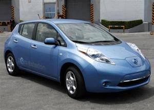 A new Nissan Leaf electric car is presented to the media at the Nissan plant on the outskirts of Toluca near Mexico City