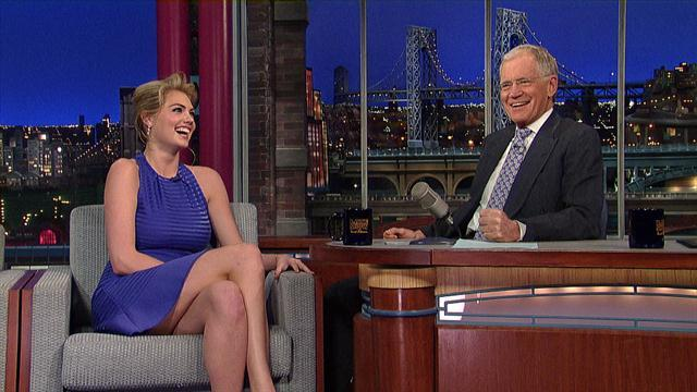 David Letterman - Sports Illustrated Cover Model, Kate Upton