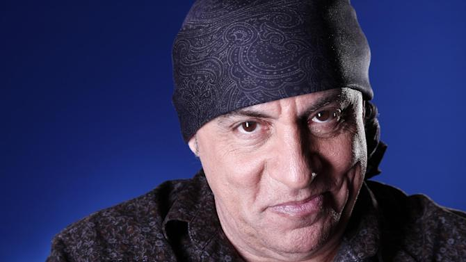 FILE - This Feb. 2, 2012 file photo shows actor and musician Steven Van Zandt in New York. Van Zandt is the recipient of the Big Man award for Little Kids Rock, a charity named for his late fellow E Street Band member, Clarence Clemons. (AP Photo/Carlo Allegri, file)