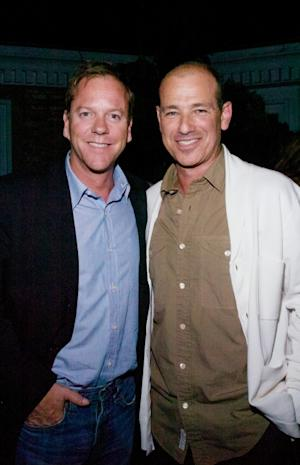 Kiefer Sutherland and Howard Gordon, executive producer of '24' & 'Homeland,' attend the Showtime and Cinema Society premiere of 'Homeland' at a Private Residence, East Hampton, New York, on August 13, 2011 -- WireImage