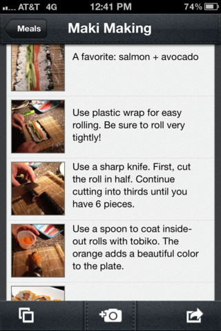 Evernote Food pour iOS : arrivé de Foursquare, upload multiple de photos