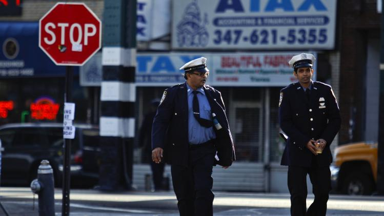 NYPD Traffic Enforcement Agents arrive for the wake service of Ranasinghe in New York