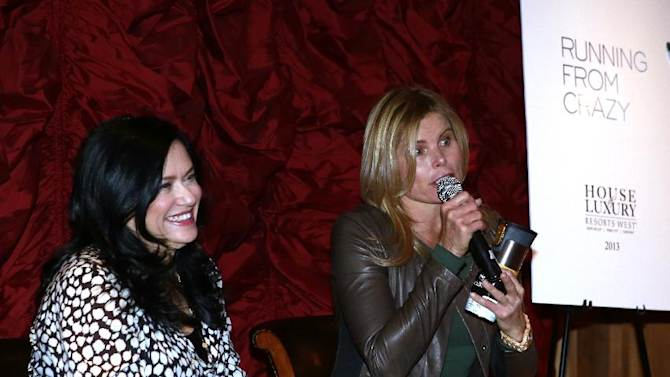 """(l-r) Barbara Kopple, Mariel Hemingway from the film """"Running from Crazy"""" during a question and answer session at Resorts West House of Luxury, on Monday, Jan 21. 2013 in Park City, Utah. (Photo by Benjamin Cohen/Invision for Rand Luxury/AP Images)"""