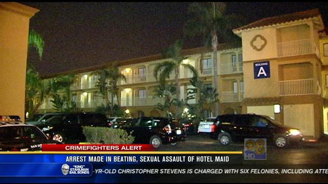 Arrest made in beating, sexual assault of hotel maid
