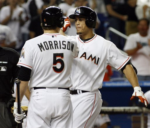Stanton's homers fuel Marlins' surge in May