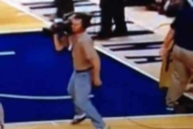 NBA cameraman's legs fall asleep, hilarity ensues