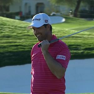 Padraig Harrington makes long range birdie putt at Waste Management
