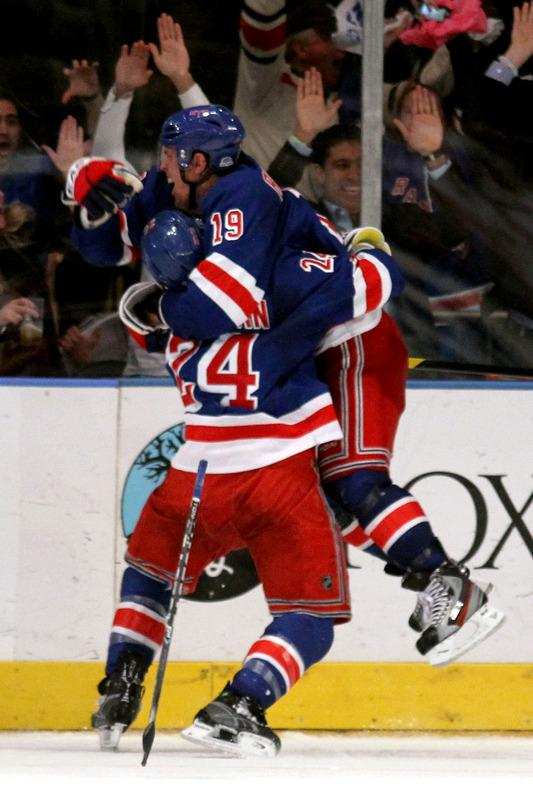 Brad Richards #19 Of The New York Rangers Celebrates Getty Images