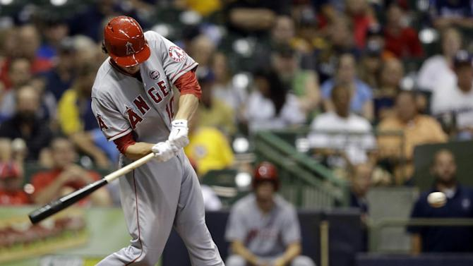 Weaver and Green lead Angels over Brewers 5-0