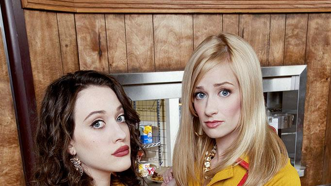"The cast of ""2 Broke Girls."""