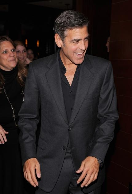 George Clooney is all smiles at the 'Argo' screening in New York City on October 9, 2012 -- Getty Premium