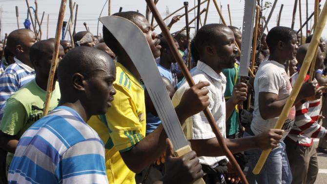 South Africa vows to halt mining violence