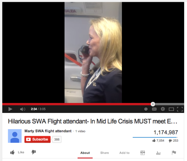 Trending News Viral Added A New Photo: Flight Attendant's Hilarious Safety Instruction Video Goes