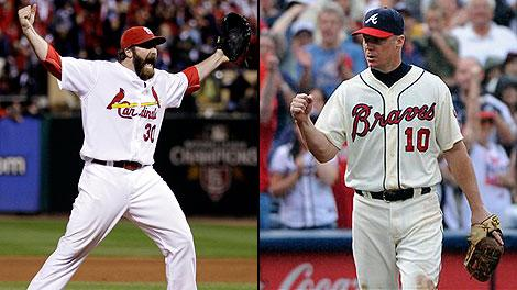 Jason Motte and Chipper Jones