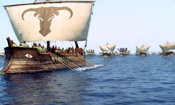 The Greek Armada sets sail in Warner Brothers' Troy