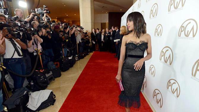 Kerry Washington arrives at the 24th Annual Producers Guild (PGA) Awards at the Beverly Hilton Hotel on Saturday Jan. 26, 2013, in Beverly Hills, Calif. (Photo by Jordan Strauss/Invision for The Producers Guild/AP Images)