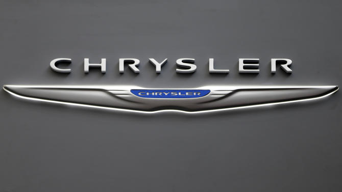 FILE - This Feb. 14, 2013 file photo shows the Chrysler logo on a sign at the 2013 Pittsburgh Auto Show in Pittsburgh. Sales from the major automakers are expected to show that confident U.S. buyers snapped up new cars and trucks at a strong pace in June. Chrysler said Tuesday, July 2, 2013, that its sales rose 8 percent for its best June since 2007. Ram brand sales rose 23 percent and Dodge sales were up 12 percent on the strength of the Dodge Dart small car. (AP Photo/Gene J. Puskar, File)