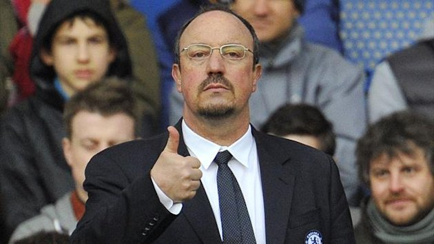 Chelsea's manager Rafael Benitez reacts during their English Premier League soccer match against West Bromwich Albion at Stamford Bridge in London March 2, 2013. REUTERS