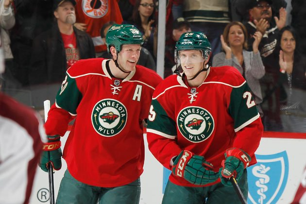 Ryan Suter and Jonas Brodin
