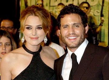 Keira Knightley and Edgar Ramirez at the Hollywood premiere of New Line Cinema's Domino