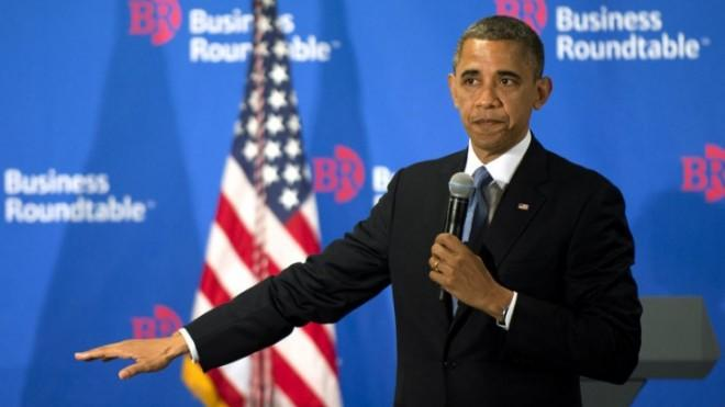 President Obama delivers remarks to members of the Business Roundtable on Dec. 5.