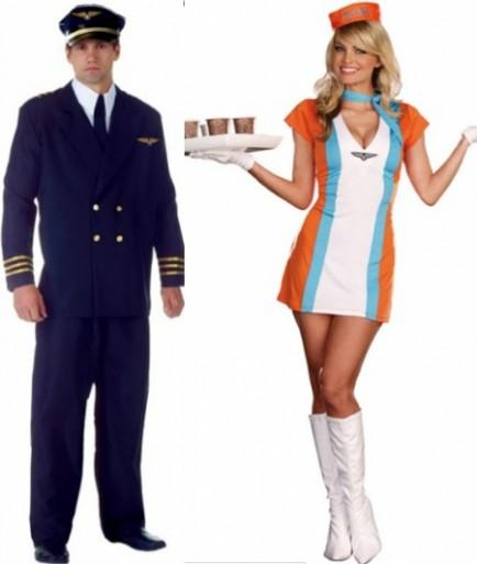 Flight Attendant and Captain Costumes