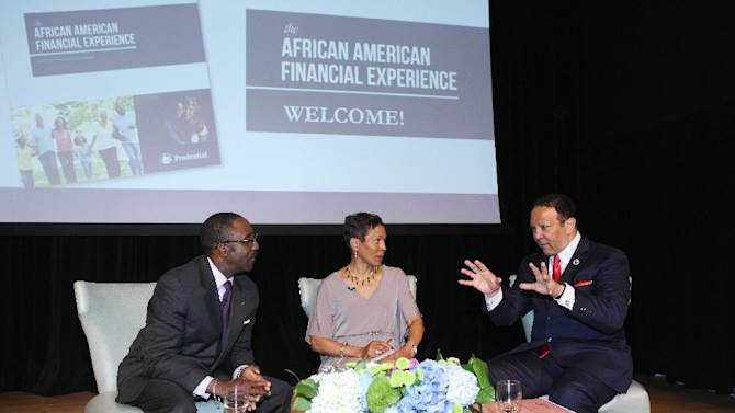 IMAGE DISTRIBUTED FOR PRUDENTIAL FINANCIAL - (left to right) Michael Davis, Senior Vice President and head of stable value team, Prudential Retirement, author and personal finance advocate Valerie Coleman, and Marc Morial, President of National Urban League are seen at Prudential Financial's 2013 African American Financial Experience event in New York on Tuesday, May 21, 2013.  (Bennett Raglin/AP Images for Prudential Financial)