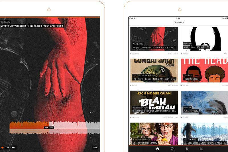 SoundCloud's iPad app gets a fresh redesign, loses recording capabilities