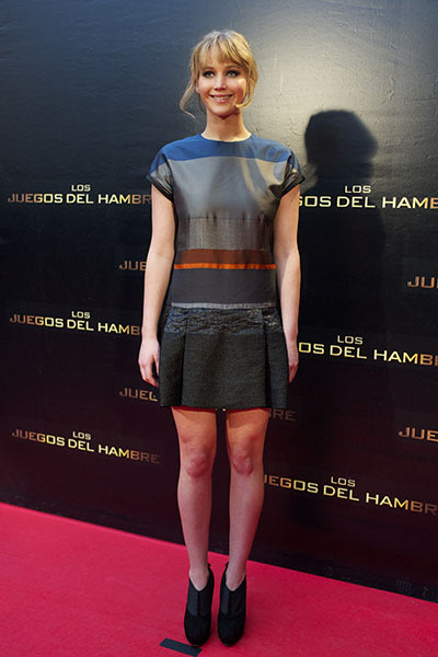 At the Madrid premier of &quot;The Hunger Games,&quot; March 2012