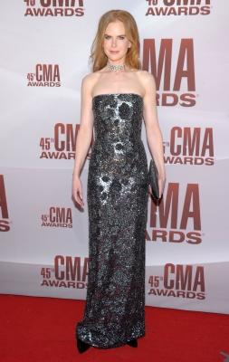 Nicole Kidman attends the 45th annual CMA Awards at the Bridgestone Arena, Nashville, on November 9, 2011 -- Getty Images