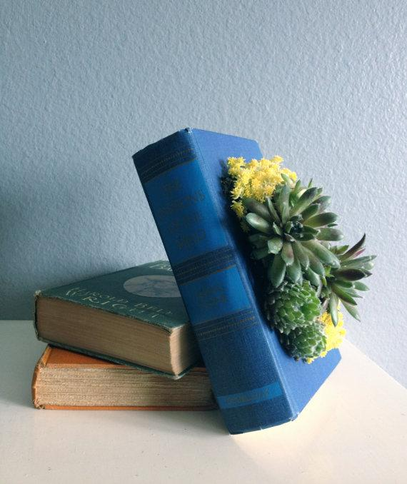 Upcycled Vintage Book Planter