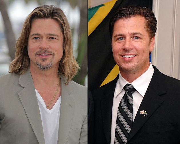 Brad Pitt and his brother