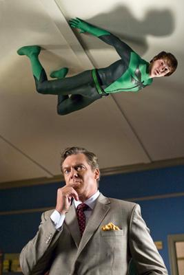Drake Bell and Christopher McDonald in Dimension Films' Superhero Movie
