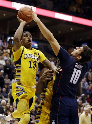 Marquette beats Connecticut 82-76 in overtime