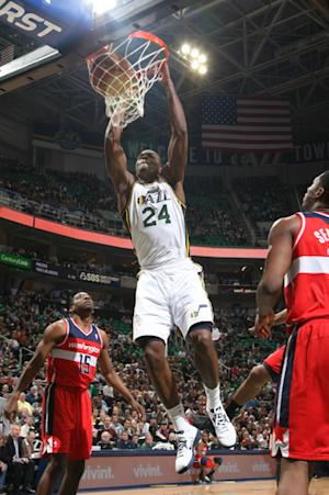 Millsap helps Jazz hold off Wizards 92-88