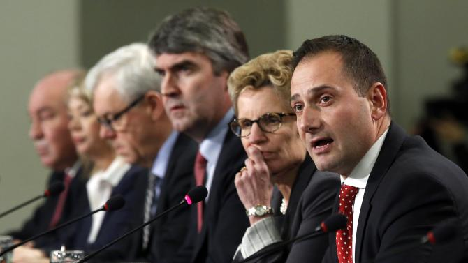 PEI Premier Robert Ghiz speaks during a news conference following a meeting of premiers in Ottawa