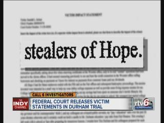 Letters from Timothy Durham's investors plea for justice