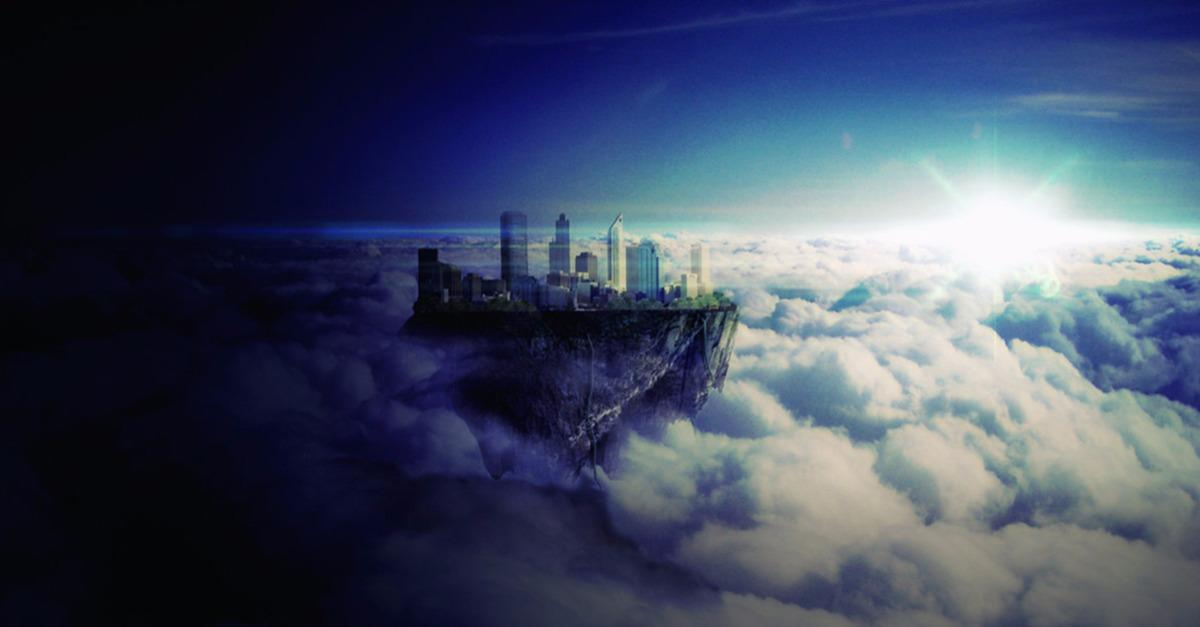 Mysterious City Floating On The Sky…