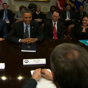 Raw: Obama Meets With Tech CEOs Amid NSA Concern