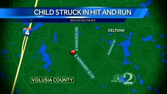 Hit-and-run driver who injured child sought