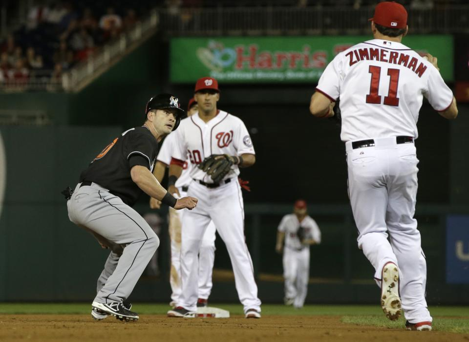 Harper HR lifts Nationals over Marlins 3-2