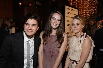 Emile Hirsch , Jena Malone and Kristen Stewart at the Los Angeles premiere of Paramount Vantage's Into the Wild