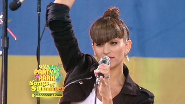 Dragonette Performs 'Hello' in NYC's Central Park for 'GMA's' Summer Concert Series