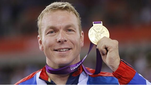 Cycling - Chris Hoy's Olympic and world championship medals
