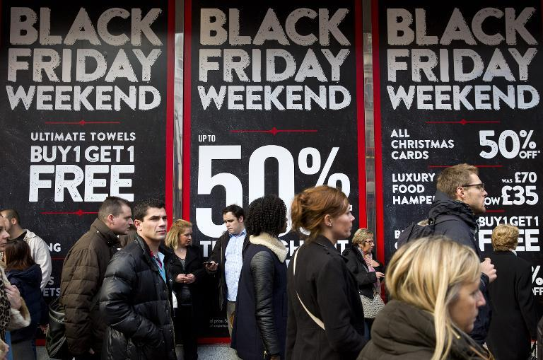 British retail sales surge thanks to 'Black Friday'