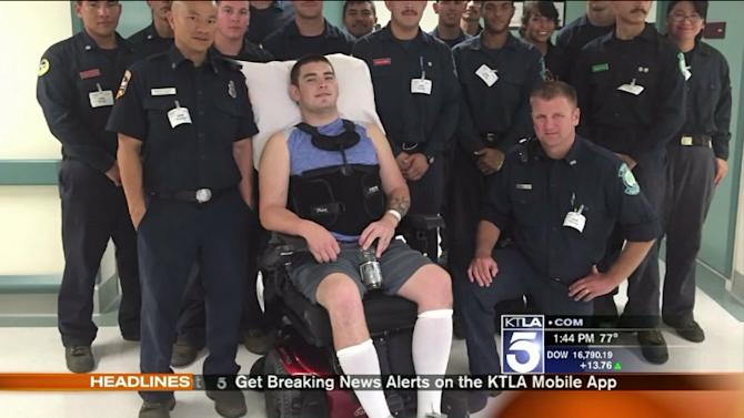 Firefighter Paralyzed During Wildfire in Recovery, Getting Help
