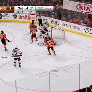 Neuvirth robs Zajac with glove