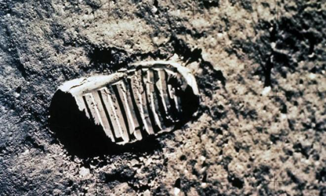 One of the first steps taken on the moon by Neil Armstrong and Buzz Aldrin in 1969.