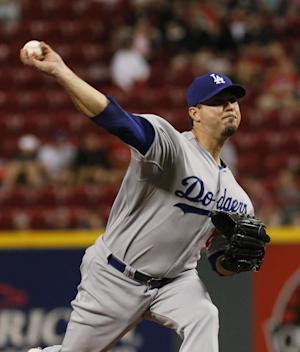 Beckett, balance equal Dodgers' 6-1 win over Reds
